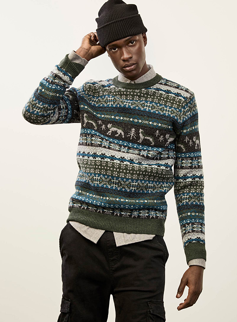 Northern jacquard lambswool sweater