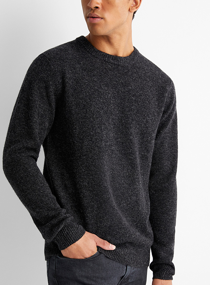 Le 31 Black Lambswool crew-neck sweater   for men