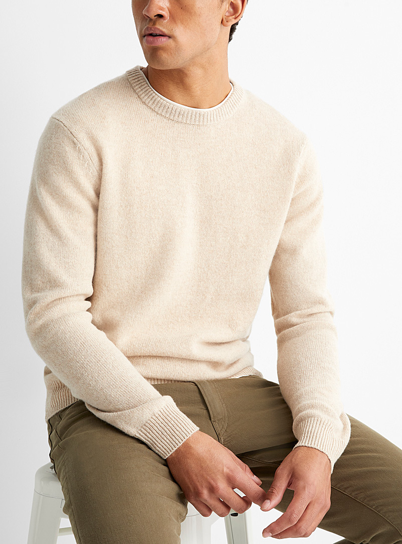 Le 31 Sand Lambswool crew-neck sweater   for men
