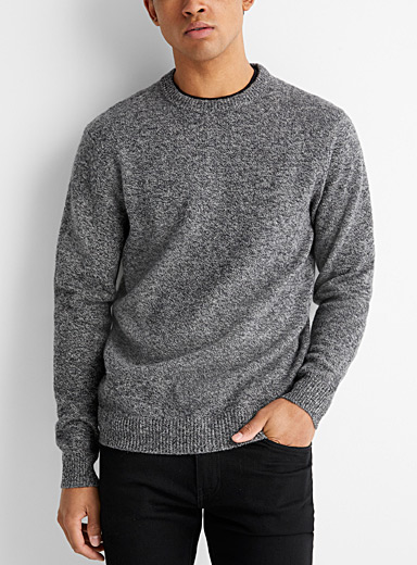 Le 31 Oxford Crew neck lambswool sweater   for men