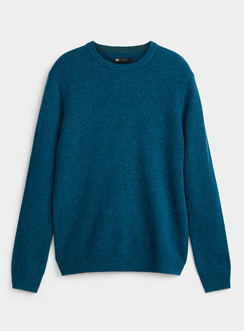 Le 31 Baby Blue Lambswool crew-neck sweater   for men