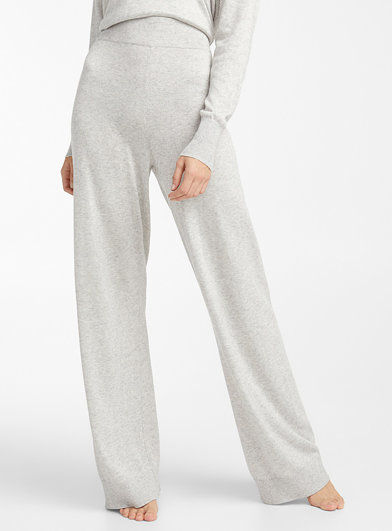 Miiyu Grey Elegant touch-of-cashmere pant for women