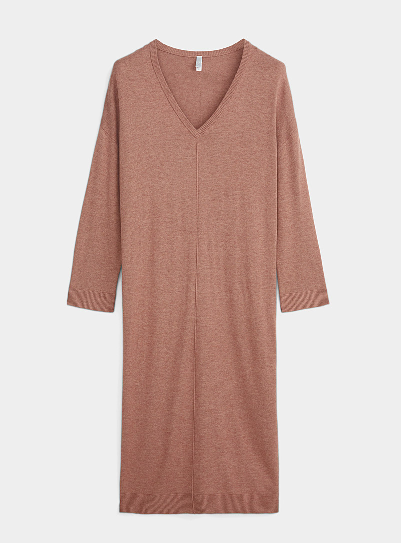Miiyu Pink Long cashmere touch nightgown for women
