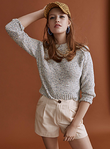 Beach cotton heather sweater