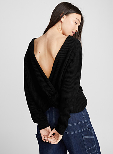 Tie-back sweater