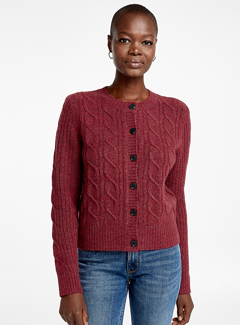 twisted-knit-buttoned-cardigan
