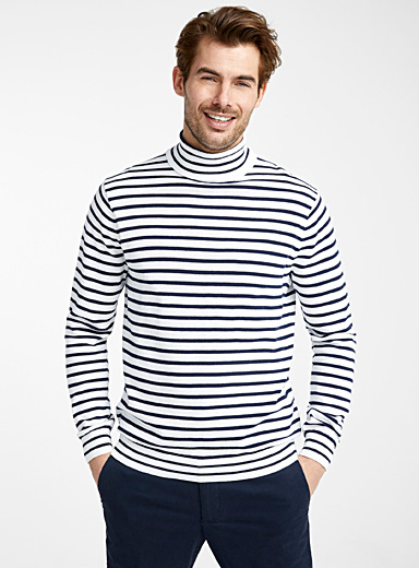 Nautical stripe turtleneck