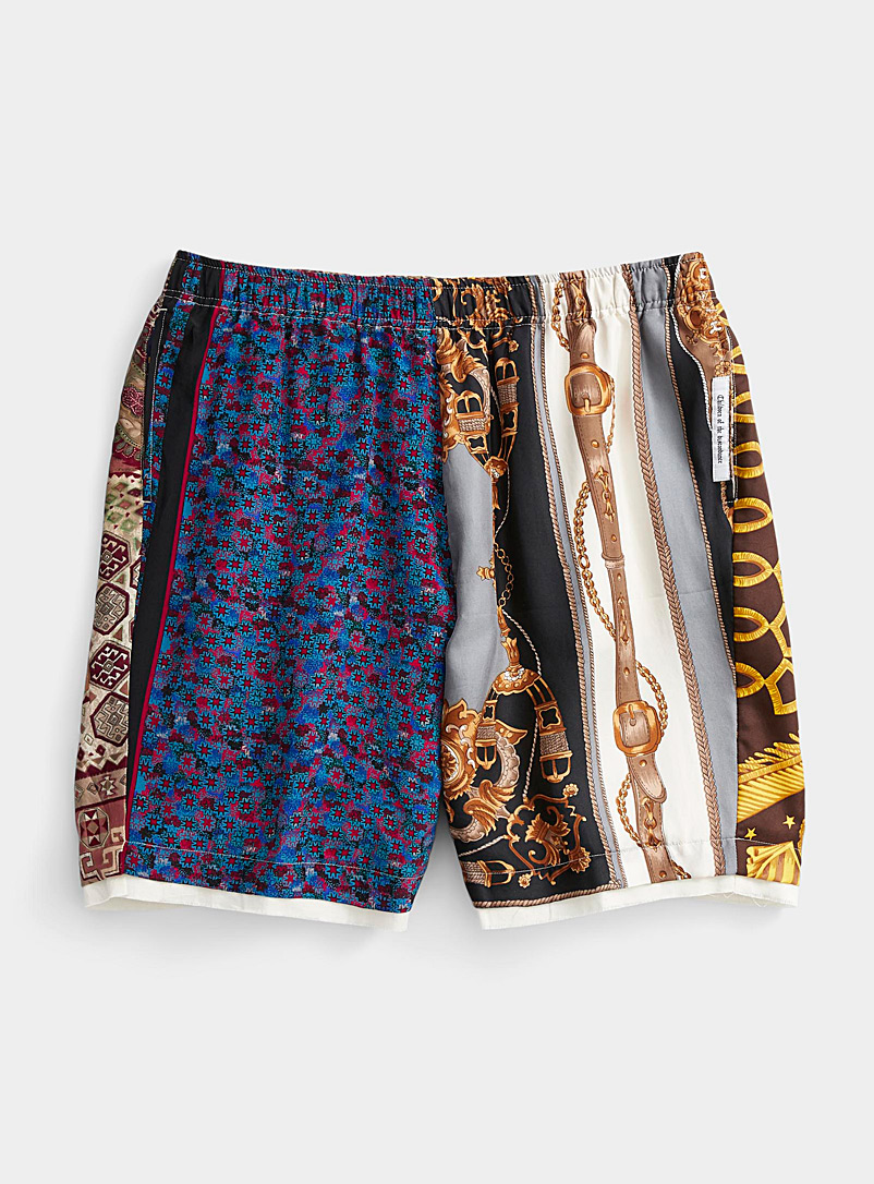 Children of the Discordance Assorted Retro scarf-pattern Bermudas for men