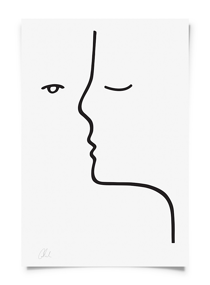 Faces poster  2 sizes available - Graphic - Black and White