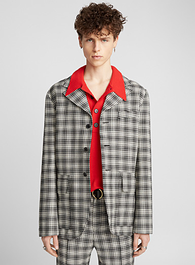 Check two-tone jacket