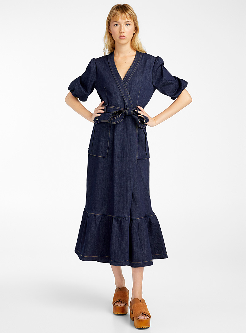 Stella Jean Dark Blue Denim dress for women