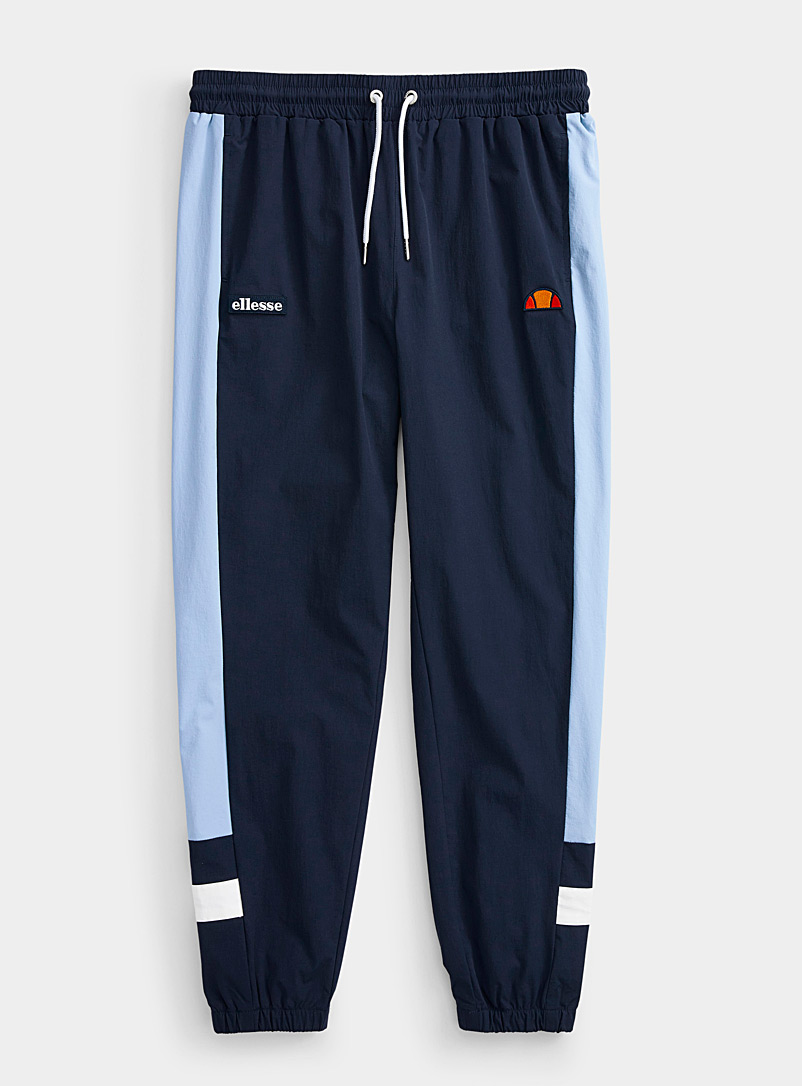 Ellesse Marine Blue Graphic nylon joggers for men