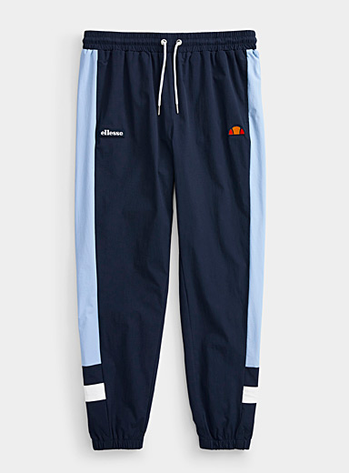Graphic nylon joggers