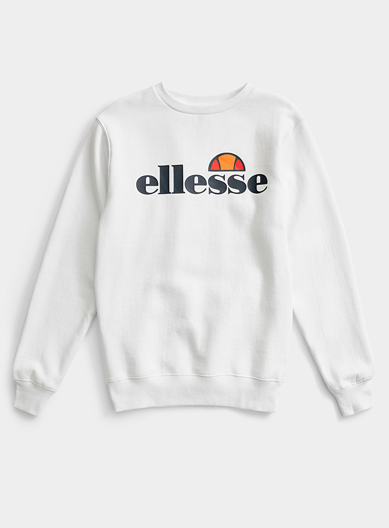 Ellesse White Vinyl logo basic sweatshirt for women
