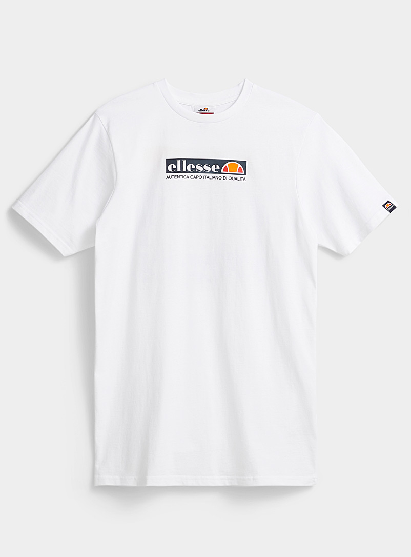 Ellesse White Chromatic logo T-shirt for men