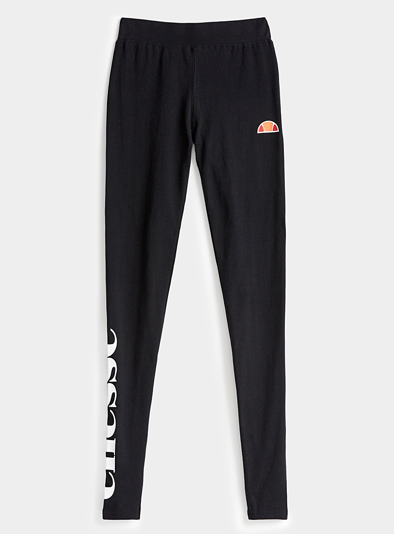 Ellesse Black Basic logo legging for women