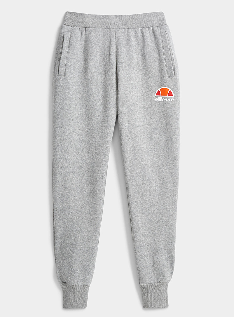 Ellesse Light Grey Mini-logo joggers for women