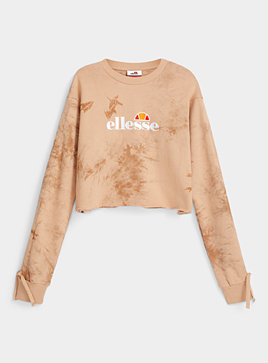 Le sweat court tie-dye caramel