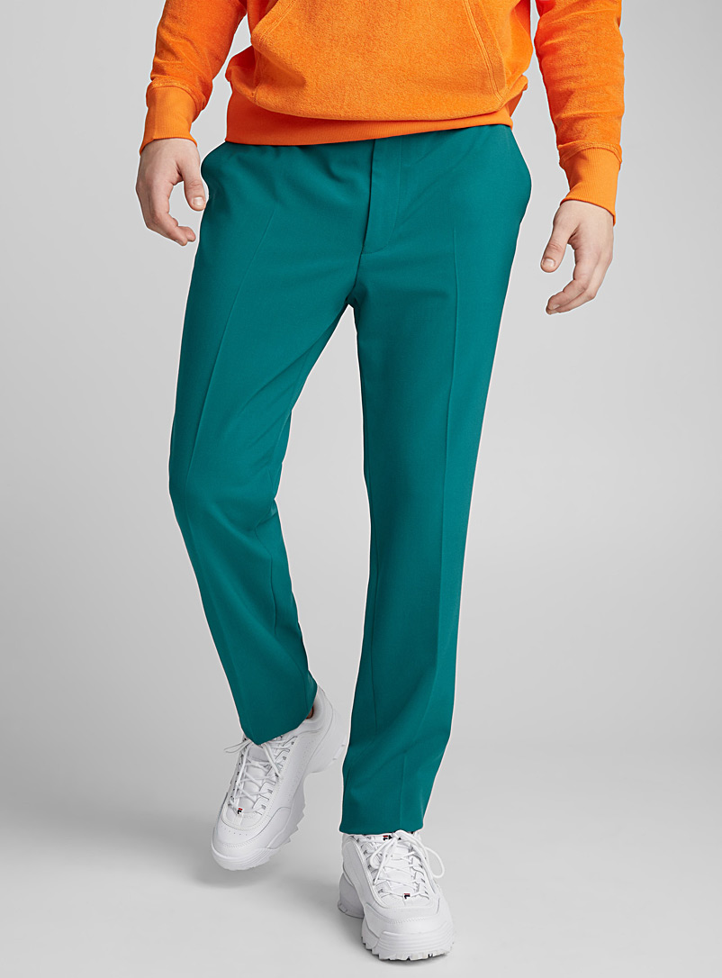 Coloured minimal pant  Slim fit - Slim fit - Kelly Green
