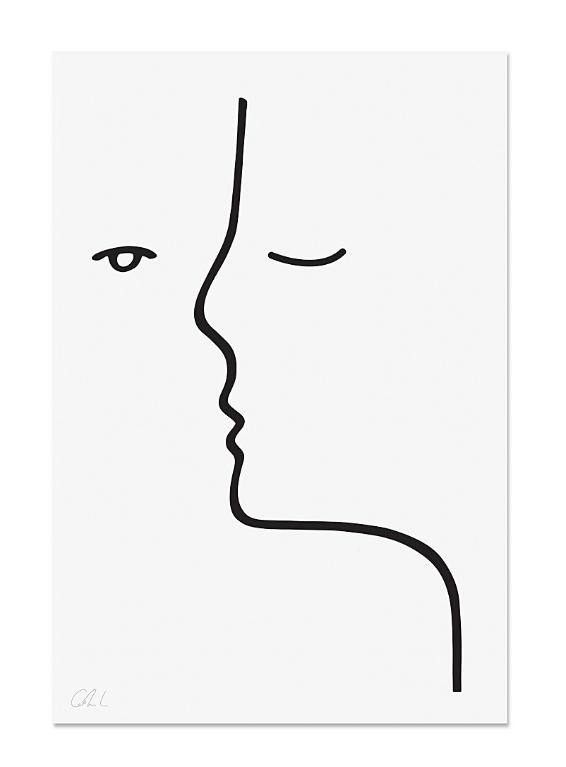 Faces poster  2 sizes available - Catherine Lavoie - Black and White