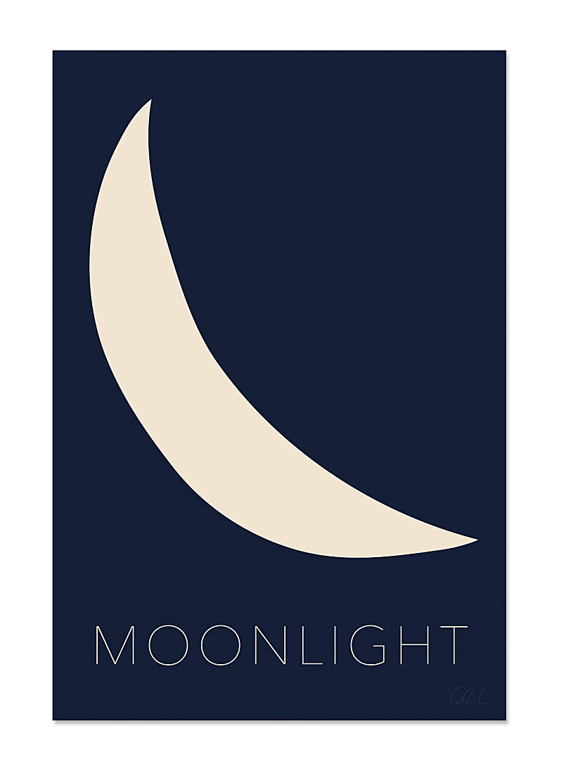 Catherine Lavoie: L'affiche Moonlight  2 formats disponibles Bleu