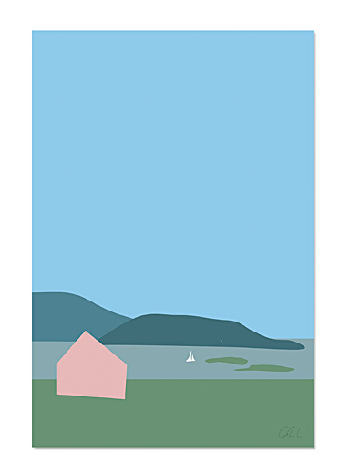 Island art print 2 sizes available