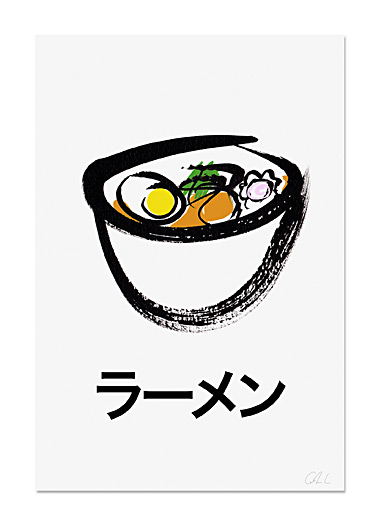 Ramen art print  2 sizes available