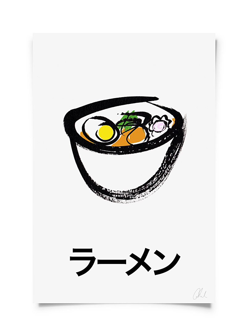 Catherine Lavoie Assorted Ramen art print  2 sizes available