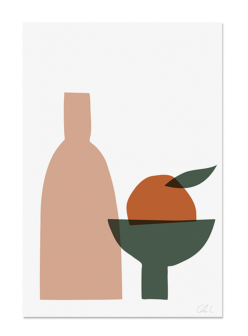 Catherine Lavoie Orange Orange fruit art print  2 sizes available