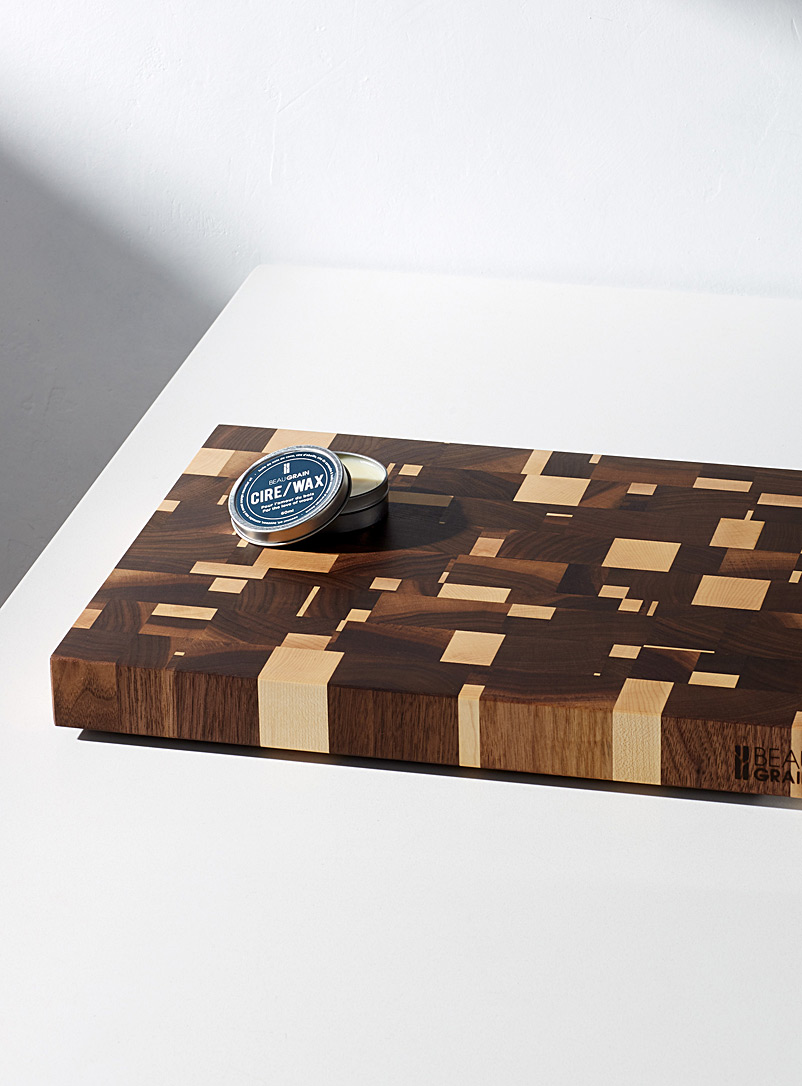Fragments cutting board  With 60 ml of balm - Beau Grain - Brown