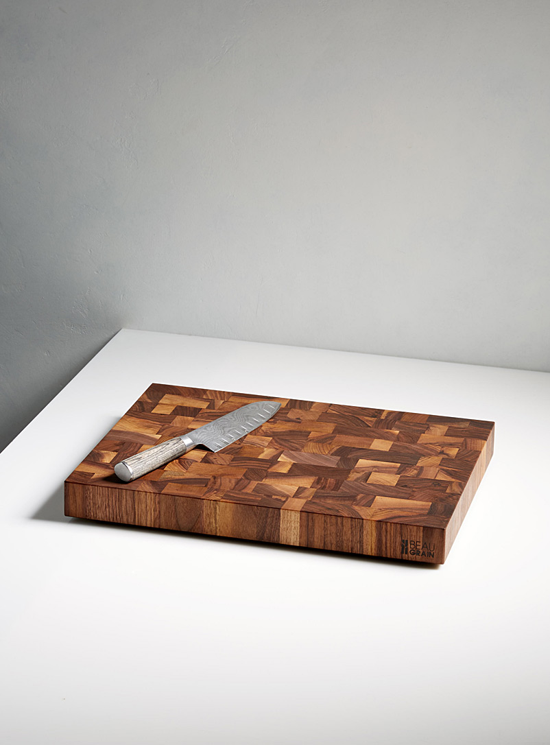Beau Grain Walnut Black walnut cutting board  With 60?ml of balm