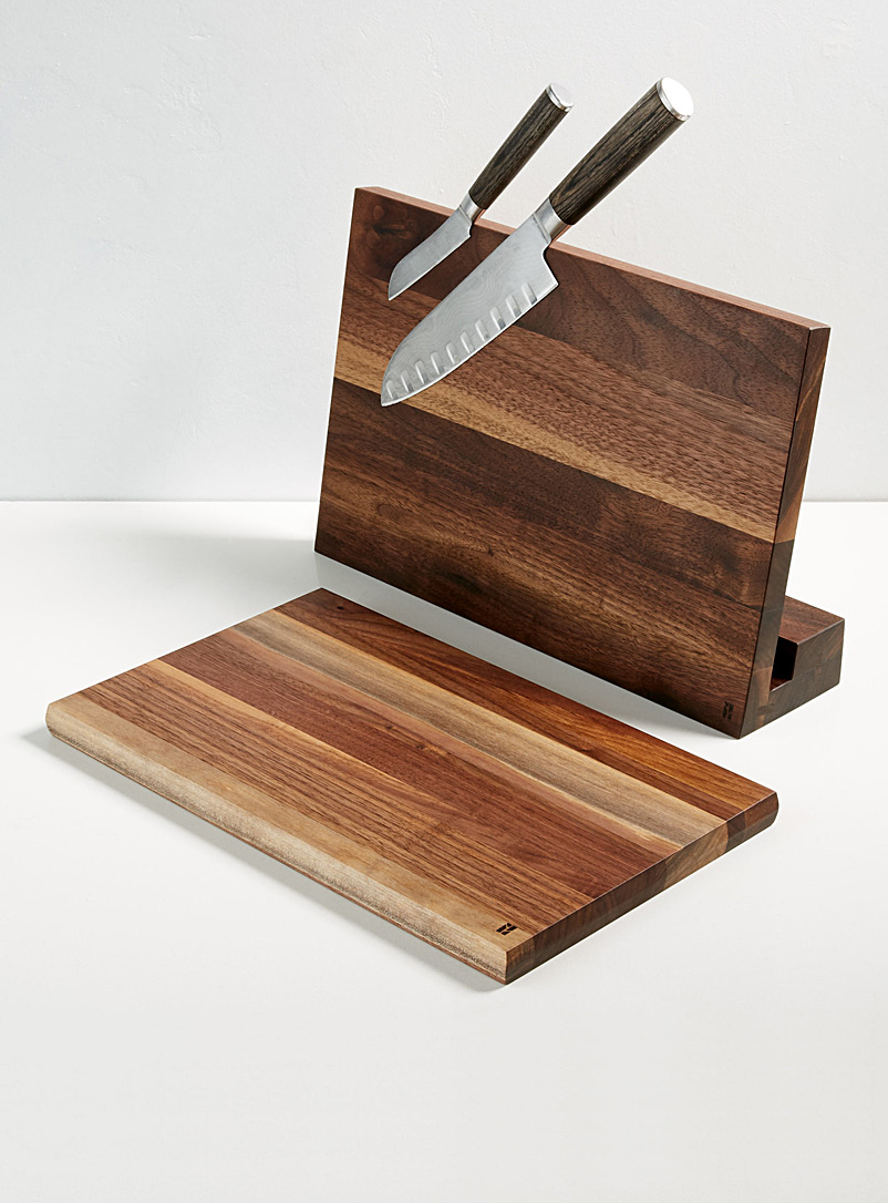 Magnetic knife holder with built-in board - Beau Grain - Cherry wood