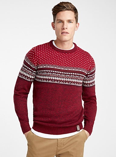 Alpine jacquard block sweater