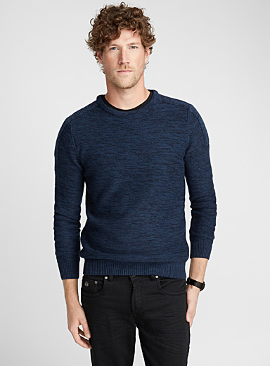 Heather crew-neck sweater