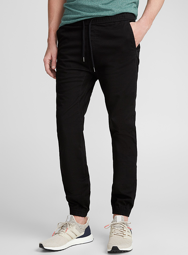 Coloured jogger chinos  Skinny fit - Joggers - Black