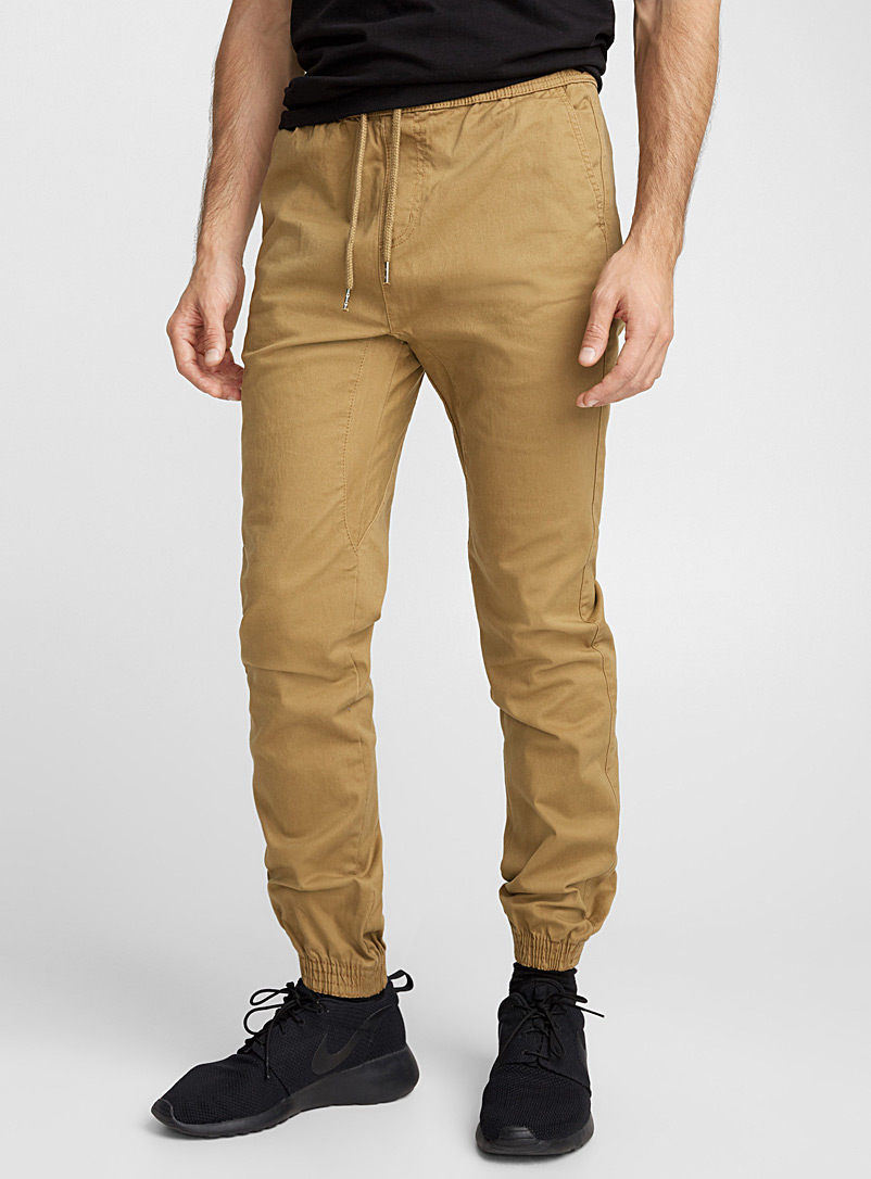 Rumors Black Coloured jogger chinos  Skinny fit for men