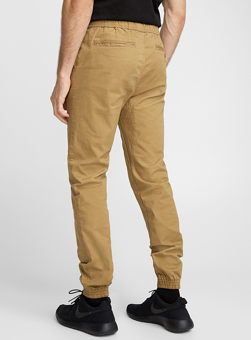 Coloured jogger chinos  Skinny fit - Joggers - Fawn