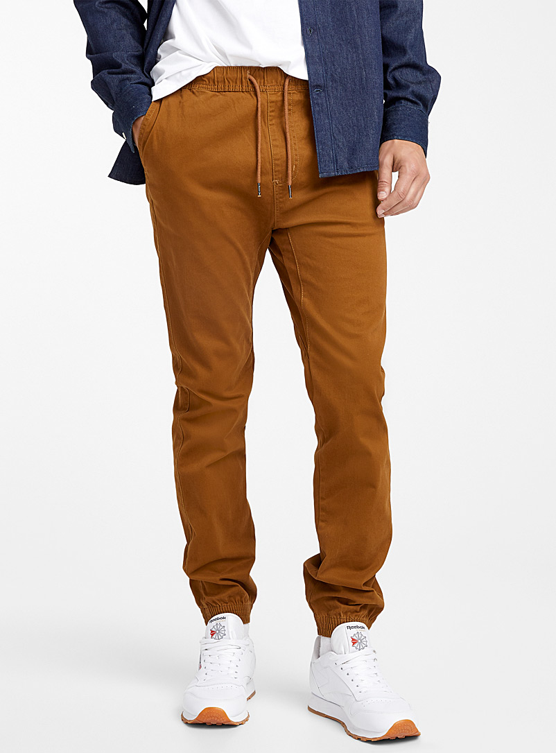 Rumors Toast Coloured jogger chinos  Skinny fit for men