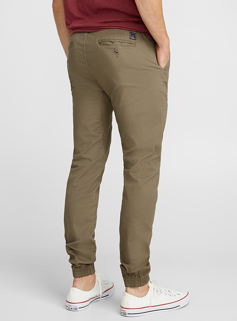 Rumors Fawn Coloured jogger chinos  Skinny fit for men