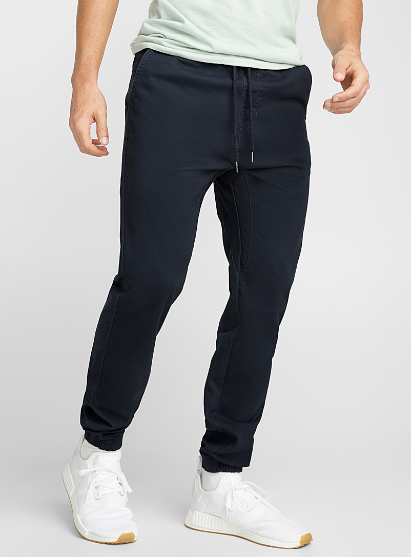 Rumors Marine Blue Coloured jogger chinos  Skinny fit for men