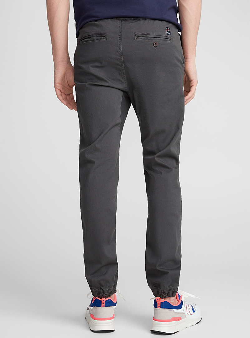 Coloured jogger chinos  Skinny fit - Joggers - Dark Grey