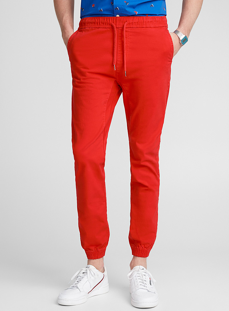 Coloured jogger chinos  Skinny fit - Joggers - Red