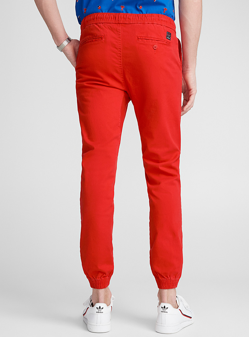 Jogger chinos  Skinny fit - Joggers - Red