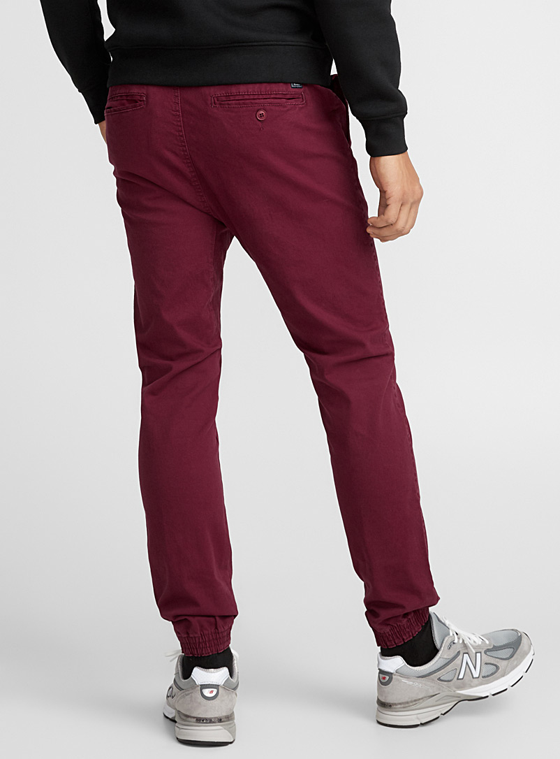 Jogger chinos  Skinny fit - Joggers - Cherry Red