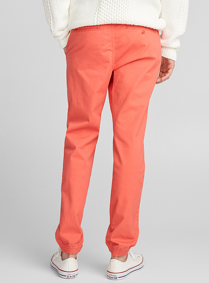 Coloured jogger chinos  Skinny fit - Joggers - Coral