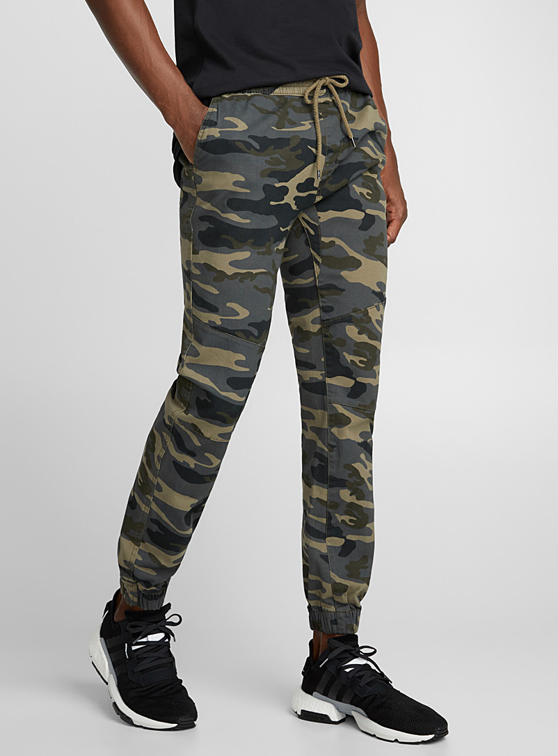 Rumors Patterned Green Camo joggers for men