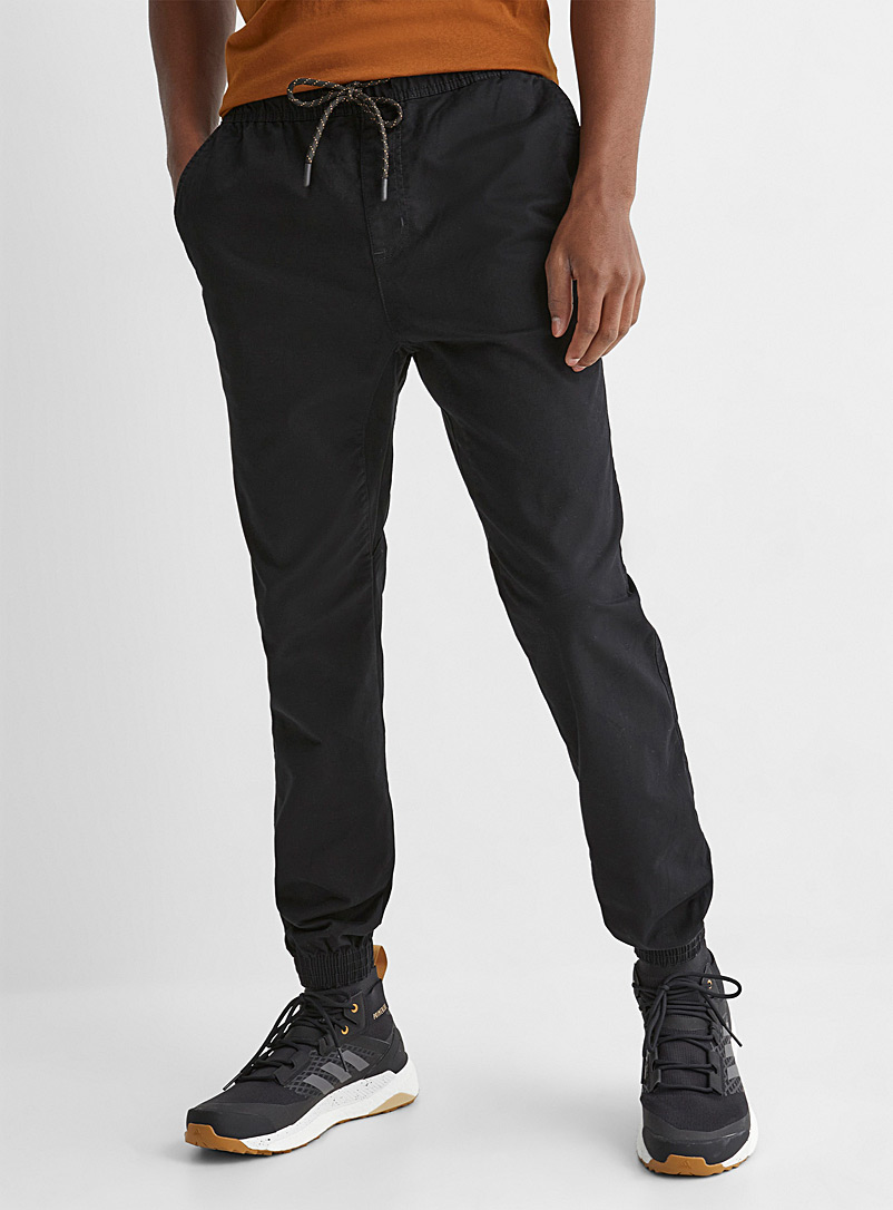 Rumors Black Organic cotton jogger chinos  Skinny fit for men
