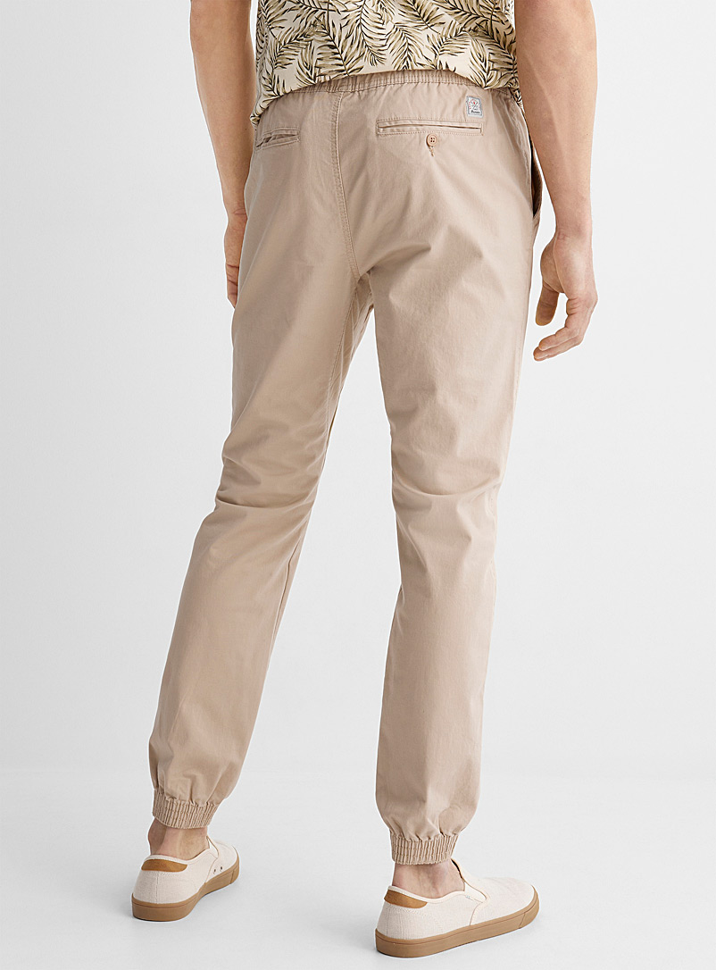 Le 31 Black Organic cotton jogger chinos Skinny fit for men