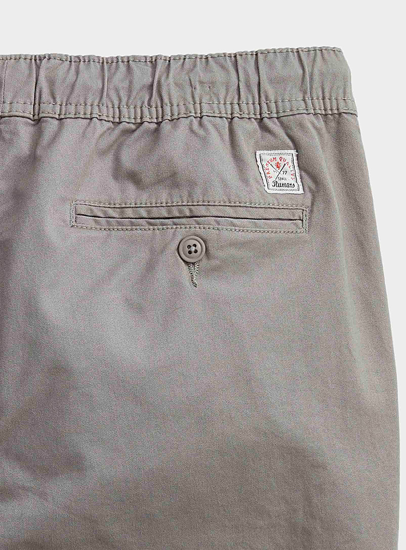 Le 31 Mossy Green Organic cotton jogger chinos  Skinny fit for men