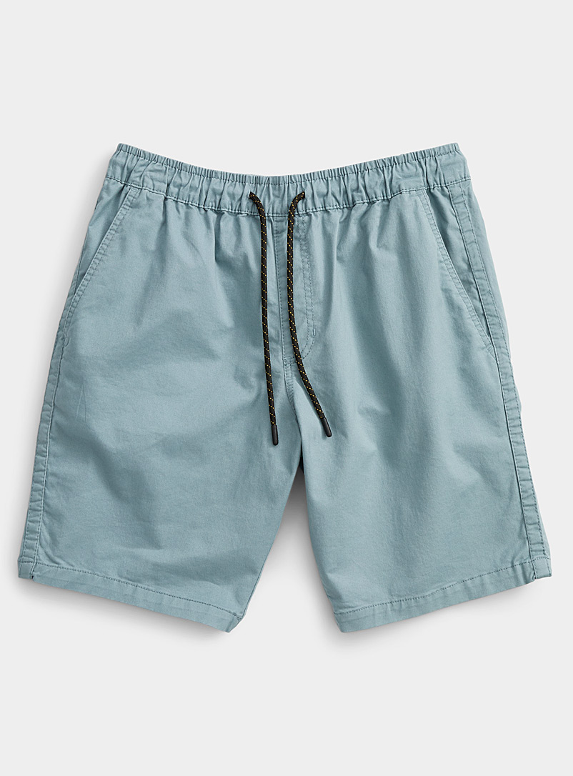 Rumors Slate Blue Organic cotton adjustable comfort-waist short   for men